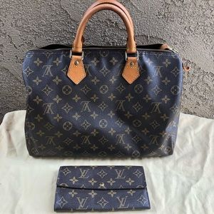 Louis Vuitton speedy and wallet set